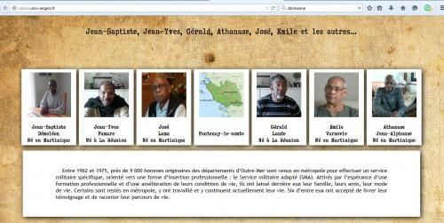 Page d'accueil du Web doc Vidom